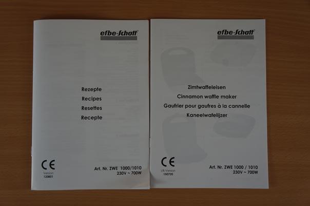 ZWE 1000 Bedienungsanleitung und Rezeptbuch