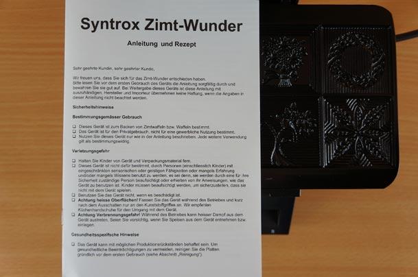 ZWE-8 Bedienungsanleitung auf Waffeleisen