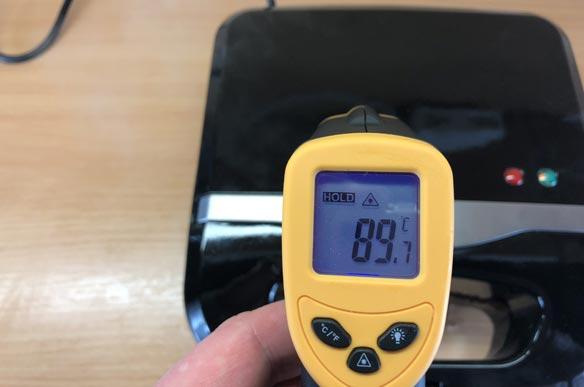 Temperaturmessung des Syntrox ZWE-800